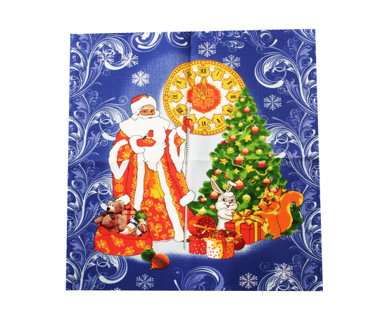 "5060-Дед Мороз Полотенце ваф. 50х60 наб., изображение 2 - Интернет магазин ""Труд"""